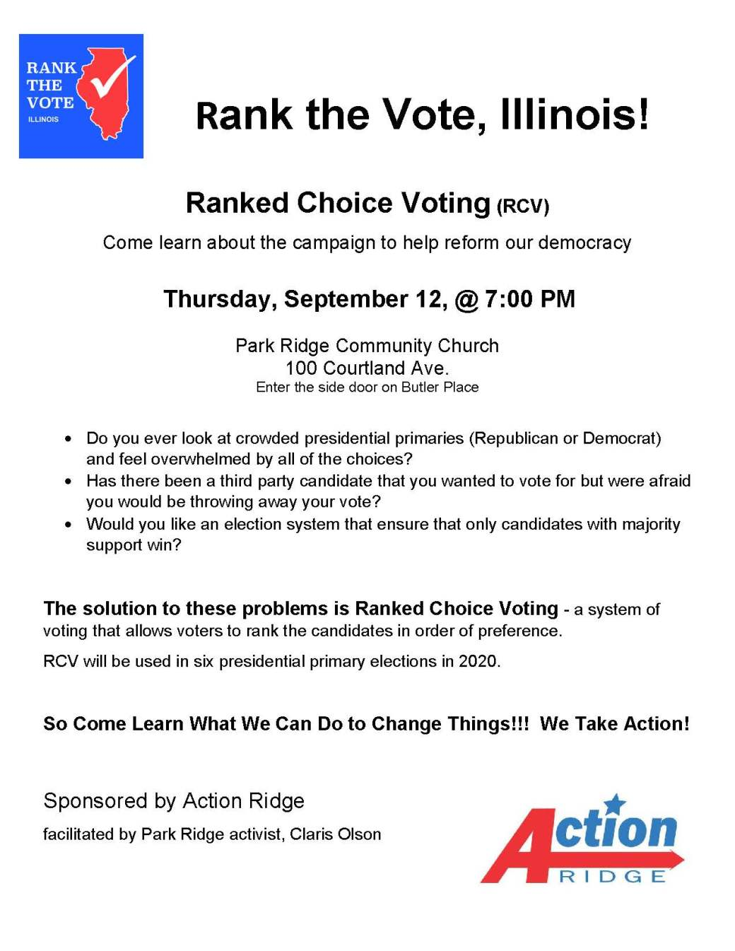 Ranked Choice Voting Flyer